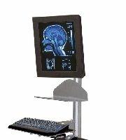 Stools and Chairs  Standard Mobile Workstation w/CPU Holder - MedWOW